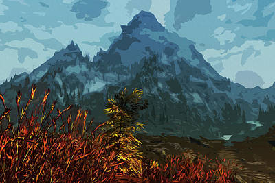 Painting - Autumn, And The Grey Mountain by Andrea Mazzocchetti
