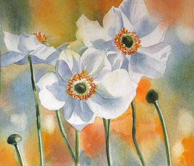 Painting - Autumn Anemone by Alfred Ng