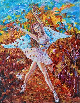 Painting - Autumn Angelic Ballerina by Yelena Rubin