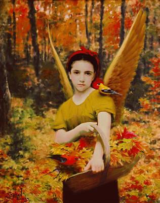Autumn Angels Art Print by Stephen Lucas