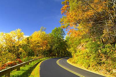 Autumn Appalachian Drive Art Print by Darrell Young