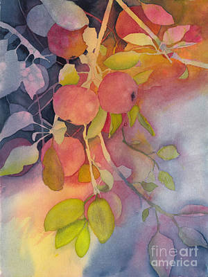 Painting - Autumn Apples Full Painting by Conni Schaftenaar