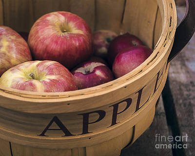 Photograph - Autumn Apples In A Basket by Alissa Beth Photography