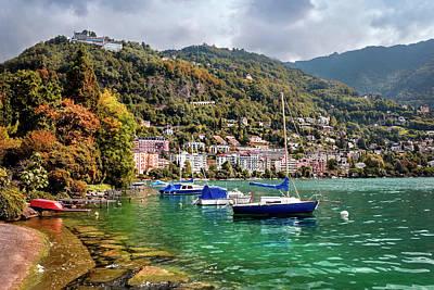 Autumn Approaches In Montreux Switzerland  Art Print