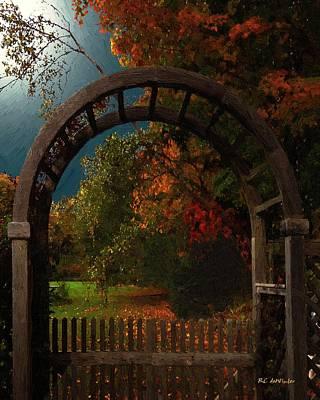 Connecticut Landscape Digital Art - Autumn Archway by RC deWinter