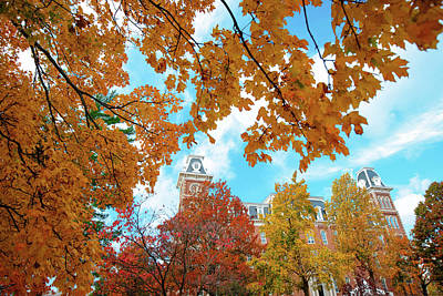 Photograph - Autumn Around Old Main - University Of Arkansas - Fayetteville by Gregory Ballos
