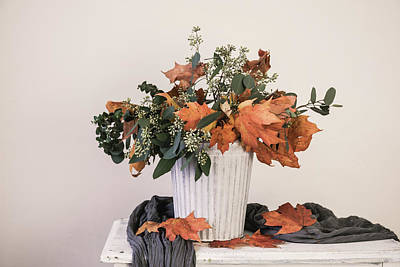 Photograph - Autumn Arrangement by Kim Hojnacki