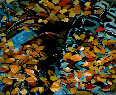 Painting - Autumn by Art Nomad Sandra  Hansen