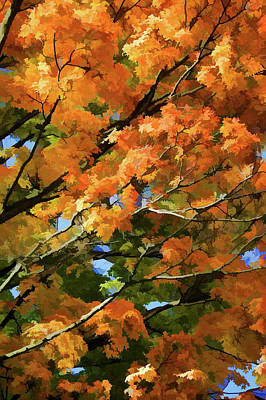 Asphalt Digital Art - Autumn by Art Spectrum