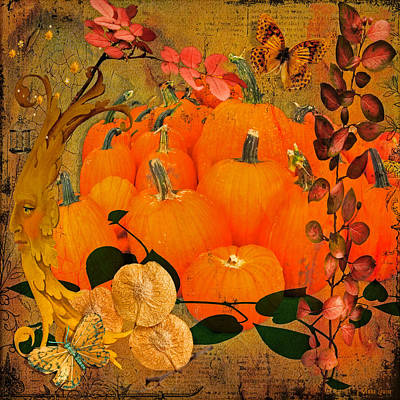 Photograph - Autumn Artistic Pumpkins by Anna Louise