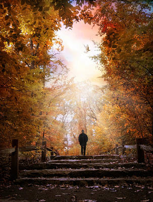 Hill Country Digital Art - Autumn Ascension by Jessica Jenney
