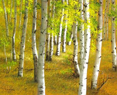 Painting - Autumn, Aspens by Boris Garibyan