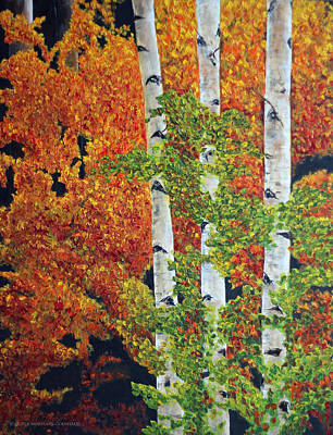 Painting - Autumn Aspens by Jennifer Morrison Godshalk