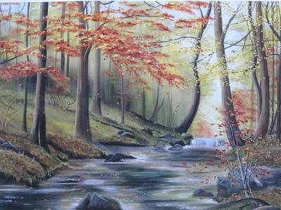 Painting - Autumn At Abrams Creek by RJ McNall