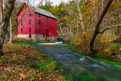 Alley Spring Photograph - Autumn At Alley Spring by Jackie Novak