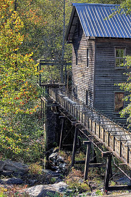 Photograph - Autumn At Bean's Gristmill  by JC Findley