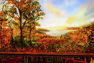 Painting - Autumn At Beaver Lake -beaver Lake Art by Lourry Legarde