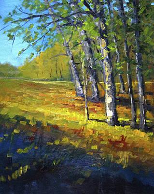 Painting - Autumn At Bloedel by Nancy Merkle