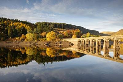 Photograph - Autumn At Caban Coch Reservoir by Stephen Taylor