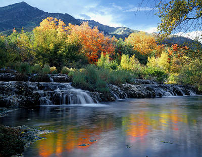 Photograph - 212m47-autumn At Cascade Springs  by Ed  Cooper Photography