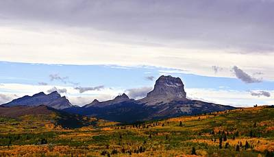Photograph - Autumn At Chief Mountain by Tracey Vivar