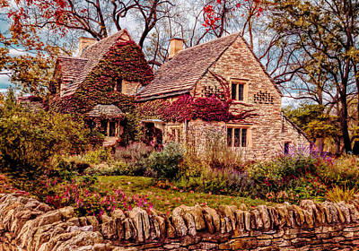 Photograph - Autumn At Cotswold Cottage by Susan Rissi Tregoning