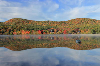 Photograph - Autumn At Crystal Lake by John Burk