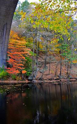 Charles River Photograph - Autumn At Echo Bridge by Corinne Rhode