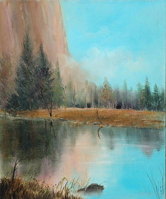 Yosemite Painting - Autumn At El Capitan by Sally Seago