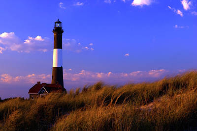 Autumn At Fire Island Lighthouse Art Print by Rick Berk