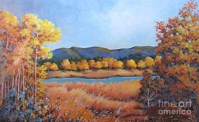 Painting - Autumn At Fraser Valley 2 by Marta Styk