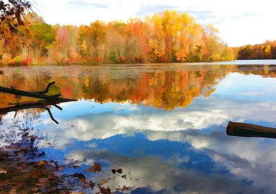 Manip Photograph - French Creek Colors by Stephen Kinsey