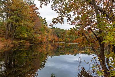 Autumn At Hillside Pond Art Print