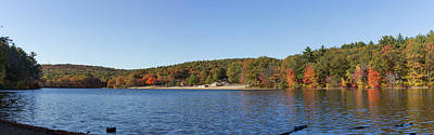 Photograph - Autumn At Houghtons Pond Panorama by Brian MacLean