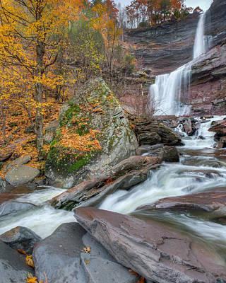 Autumn At Kaaterskill Falls Art Print by Bill Wakeley
