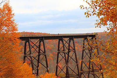 Kinzua Photograph - Autumn At Kinzua Bridge by Rick Morgan