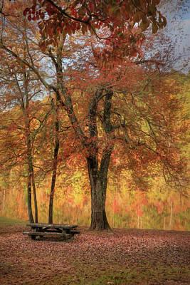 Digital Art - Autumn At Lake Cherokee by Lori Deiter
