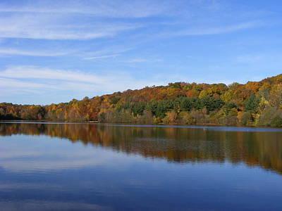 Autumn At Lake Mohegan Art Print by Margie Avellino