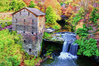 Mill Photograph - Autumn At Lanterman's Mill by Marcia Colelli