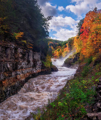 Autumn Photograph - Autumn At Lower Falls by Mark Papke