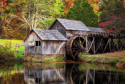 Photograph - Autumn At Mabry Mill by Amber Kresge