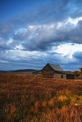 Photograph - Autumn At Mormon Row Barn Grand Teton National Park by Vishwanath Bhat