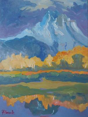 Painting - Autumn At Mt. Moran by Francine Frank