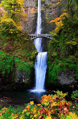 Photograph - Autumn At Multnomah Falls by Athena Mckinzie