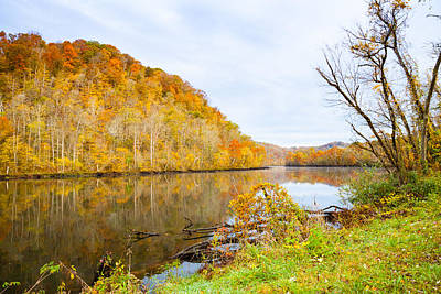 Photograph - Autumn At Norris Dam State Park by Melinda Fawver