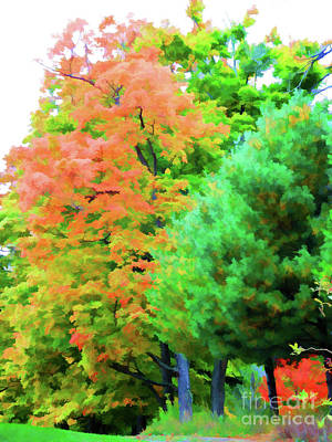 Autumn At Olana 3 Art Print by Lanjee Chee