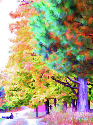 Autumn At Olana 4 Art Print by Lanjee Chee
