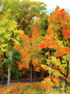 Autumn At Olana 7 Art Print by Lanjee Chee