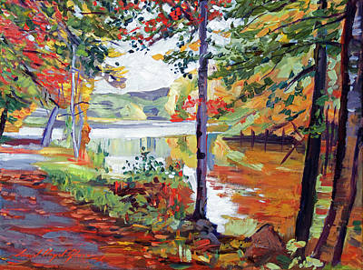 Painting - Autumn At Rockefeller  by David Lloyd Glover