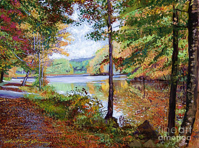 Pathways Painting - Autumn At Rockefeller Park  by David Lloyd Glover